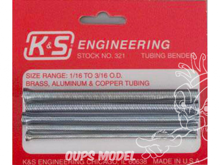 K&S 321 Ressorts Cintreurs de tubes