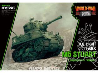 Meng maquette militaire WWT-012 Char leger U.S. M5 Stuart SERIE WORLD WAR TOON