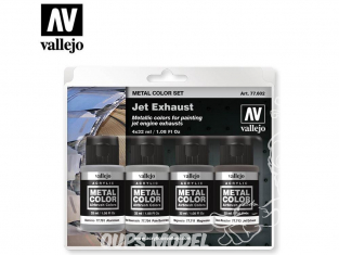 Vallejo Set Metal Color 77602 Tuyeres Jet - Exhaust 4 x 32ml