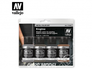 Vallejo Set Metal Color 77604 Moteurs 4 x 32ml