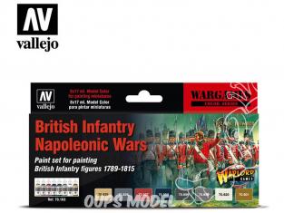 Vallejo Set Wargames 70163 Set Infanterie Britannique Guerres Napoléoniennes 8 x 17ml