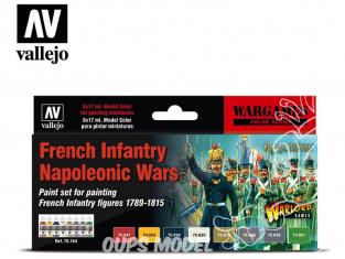 Vallejo Set Wargames 70164 Set Infanterie Française Guerres Napoléoniennes 8 x 17ml