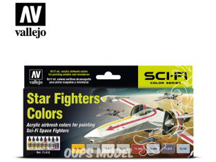 Vallejo Set Model Air 71612 Couleurs vaisseaux Star Fighters 8 x 17ml