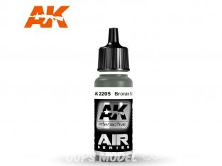 Ak interactive peinture acrylique Air AK2205 Vert Bronze 17ml