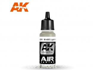 Ak interactive peinture acrylique Air AK2231 Gris clair M-485 17ml