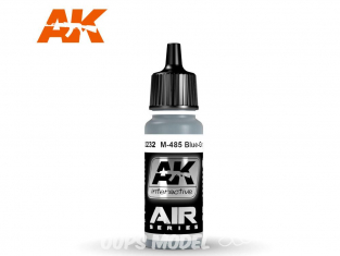 Ak interactive peinture acrylique Air AK2232 Gris Bleu M-485 17ml
