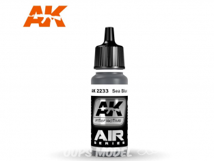 Ak interactive peinture acrylique Air AK2233 Bleu Mer 17ml