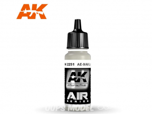 Ak interactive peinture acrylique Air AK2251 Gris Clair AE-9/Aii 17ml