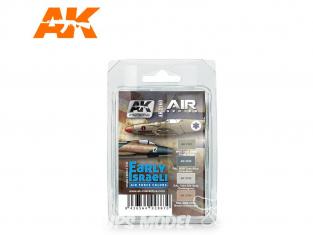 Ak Interactive Set peinture Air Series AK2160 Early Israeli Air Force Colors 4 x 17ml