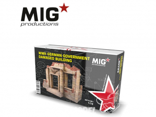 MIG Productions by AK MP72-081 Ruine de batiment du gouvernement Allemand WWII 1/72
