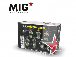 MIG Productions by AK MP72-411 Equipage moderne U.S. 1/72