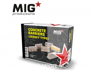 MIG Productions by AK MP35-275 Barrieres en béton (Type Jersey) 1/35