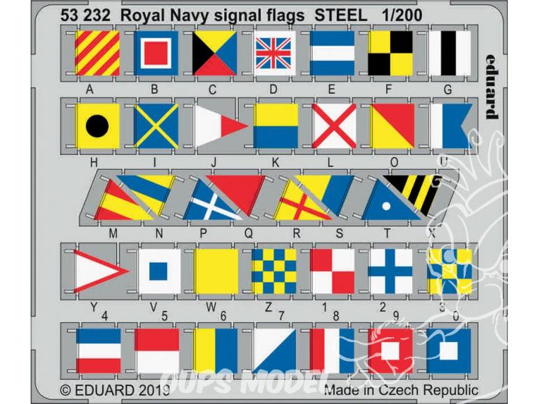 Eduard photodecoupe 53232 Drapeaux de signalisation de la Royal Navy métal 1/200