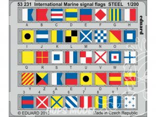 Eduard photodecoupe 53231 Drapeaux de signalisation Internationaux de la Marine en métal 1/200