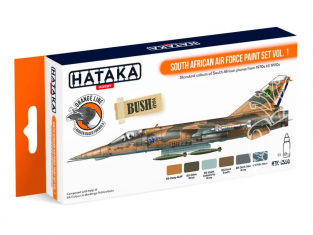 Hataka Hobby peinture laque Orange Line CS50 South African Air Force paint set vol. 1 6 x 17ml