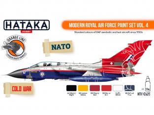 Hataka Hobby peinture laque Orange Line CS85 Modern Royal Air Force paint set vol. 4 6 x 17ml