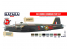 Hataka Hobby peinture acrylique Red Line AS102 RAF Bomber Command paint set 8 x 17ml