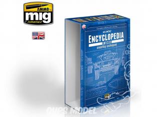 MIG magazine 6149E Boite pour 6 Volumes de l'Encyclopédie des techniques de modelisme des blindés en Anglais