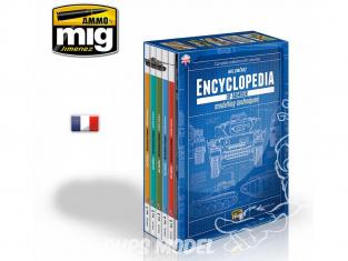 MIG magazine 6169 Collection de 6 Volumes de l'Encyclopédie des techniques de modelisme des blindés en Français avec boite