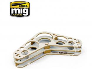 Mig Jimenez accessoire peinture 8028 Presentoir Boomerang pour plan de travail
