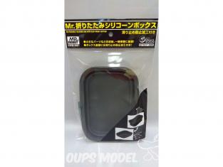 Mr Hobby accessoire peinture GT107 Boîte en silicone pliable avec fond anti-dérapent