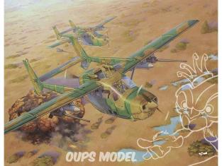 """roden maquette avion 628 CESSNA REIMS FTB337G LYNX """"GUERRE EN RHODÉSIE"""" 1980  1/32"""