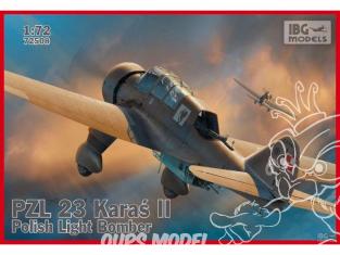 IBG maquette avion 72508 PZL 23B Karaś II 1/72