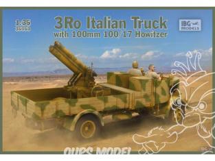 IBG maquette militaire 35053 Camion italien 3Ro avec obusier de 100 mm 100/17 1/35