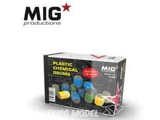 MIG Productions by AK MP35-110 Bidons en plastique x12 1/35