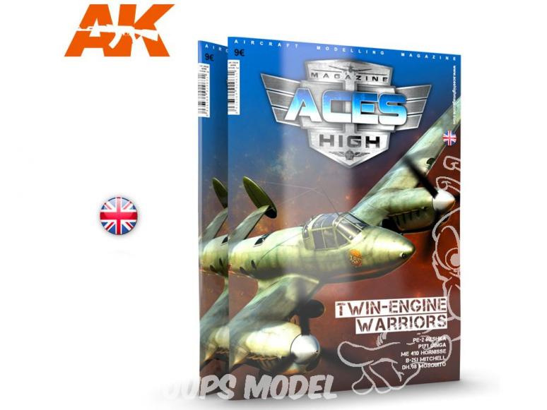 Ak interactive Magazine Aces High AK2929 N°14 Guerriers Bimoteurs En Anglais - Twin-Engine warriors