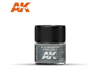 Ak interactive Real Colors RC319 Gris acier intérieur - A-14 Interior Steel Grey 10ml