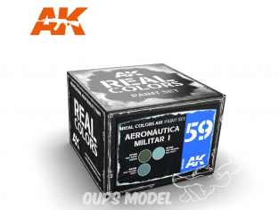 Ak interactive Real Colors Set RCS059 Aeronatica Militar I 3 x 10ml