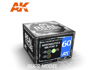 Ak interactive Real Colors Set RCS060 Aeronatica Militar II 3 x 10ml
