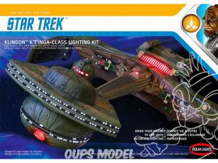 Polar Lights maquette MKA031M Polar Lights Star Trek Klingon K't'inga Kit lumiere 1:350