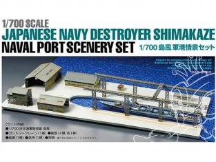 Maquette bateau TAMIYA 25417 Diorama Shimakaze et Port 1/700