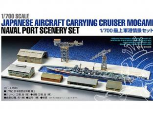 Maquette bateau TAMIYA 25416 Diorama Mogami et Port 1/700