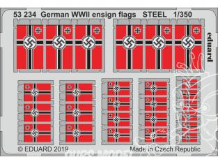 Eduard photodecoupe bateau 53234 Drapeaux Allemands WWII Métal 1/350