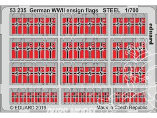 Eduard photodecoupe bateau 53235 Drapeaux Allemands WWII Métal 1/700