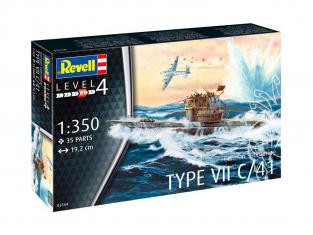 Revell maquette sous marin Model set 65154 U-Boot Typ VII C/41 inclus peintures principale colle et pinceau 1/350