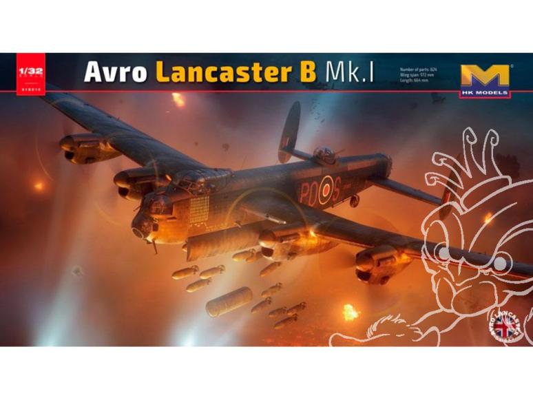 HK Models maquette avion 01E010 Lancaster MkI. serie limitée 1/32