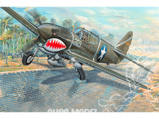 "TRUMPETER maquette avion 03227 CURTISS P-40F ""WARHAWK"" 1942 1/32"