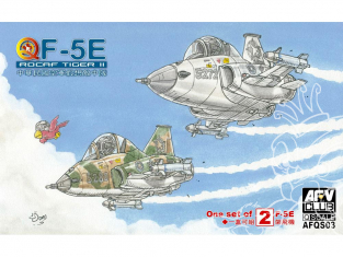 Afv club vehicule militaire QS03 ROCAF F-5E Tiger II Eggplane Series (2 F-5E dans la boite)