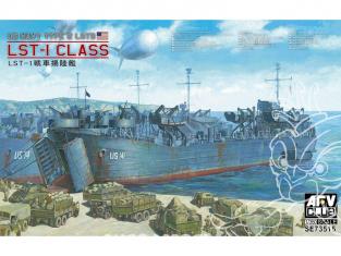 AFV maquette bateau SE73515 LST-1 Class Landing Ship Tank 1/350
