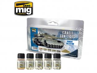 MIG pigments 7454 Set de Weathering - Conflits Israeliens 5 x 35ml