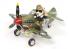 Tiger Model maquette avion Cute TT002 Curtiss P-40 Warhawk avec pilote Chien WWII United States