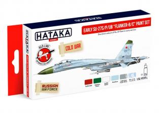 "Hataka Hobby peinture acrylique Red Line AS104 Set de peinture Early SU-27S/P/UB ""Flanker-B/C"" 6 x 17ml"