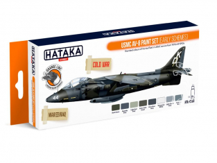 Hataka Hobby peinture laque Orange Line CS63 Set USMC AV-8 (Early Schemes) 8 x 17ml