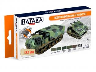 Hataka Hobby peinture laque Orange Line CS65 Set Modern Finnish Army AFV 6 x 17ml