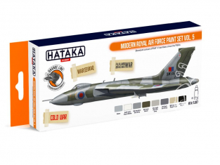 Hataka Hobby peinture laque Orange Line CS97 Set Modern Royal Air Force Vol.5 8 x 17ml