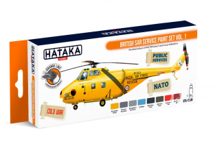 Hataka Hobby peinture laque Orange Line CS98 Set British SAR Service Vol.1 8 x 17ml